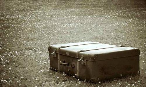 Применение старому чемодану