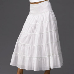 Длинная юбка из оборок своими руками.
