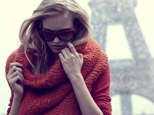 Модный шарф для осени
