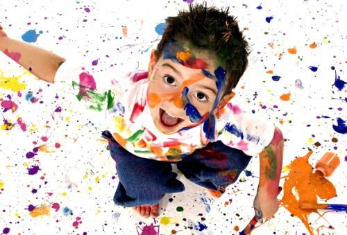 Чем увлечь ребенка? Краски-прилипала вам в помощь!