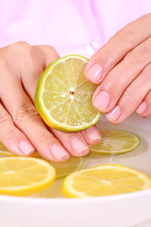 Три лимона для крепких ногтей