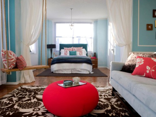 Как зонировать комнату на спальню и гостиную