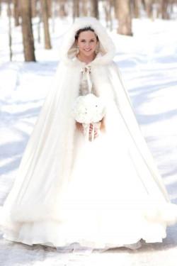 Как зимой выбрать свадебное платье?
