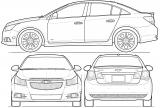 Седан схематично, Chevrolet Cruze