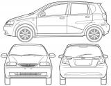 Хэтчбек схематично: Chevrolet Aveo